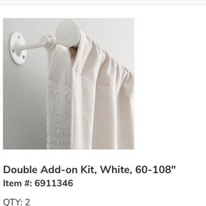 [pottery barn kids] white double add on rod